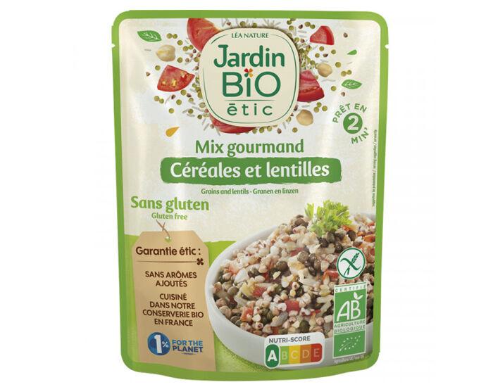 JARDIN BIO Céréales et Lentilles Cuisinées Sans Gluten - 250 g