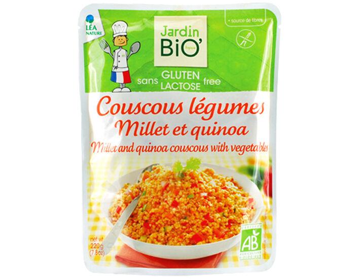 JARDIN BIO Couscous Légumes Millet Quinoa Sans Gluten - 220 g