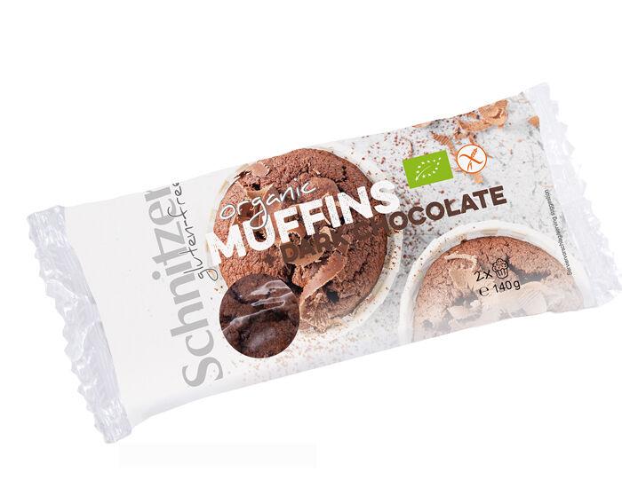SCHNITZER Muffins Sans Gluten Chocolat Noir - 140 g