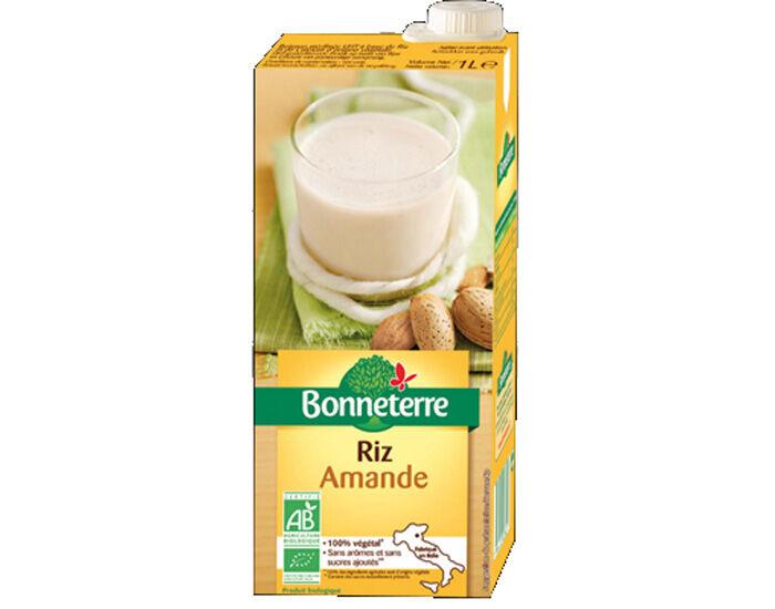 BONNETERRE Boisson Végétale Riz Amande - 1 L