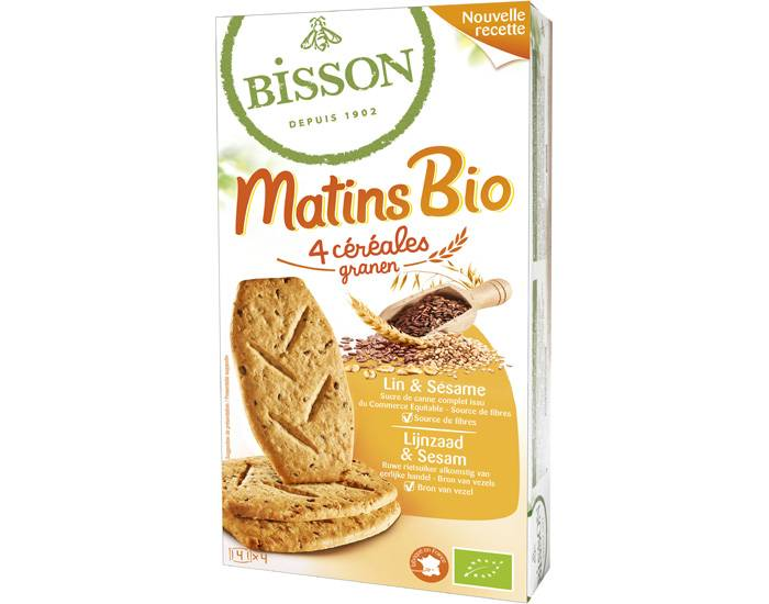BISSON Matins Bio Sésame et Lin - 200 g