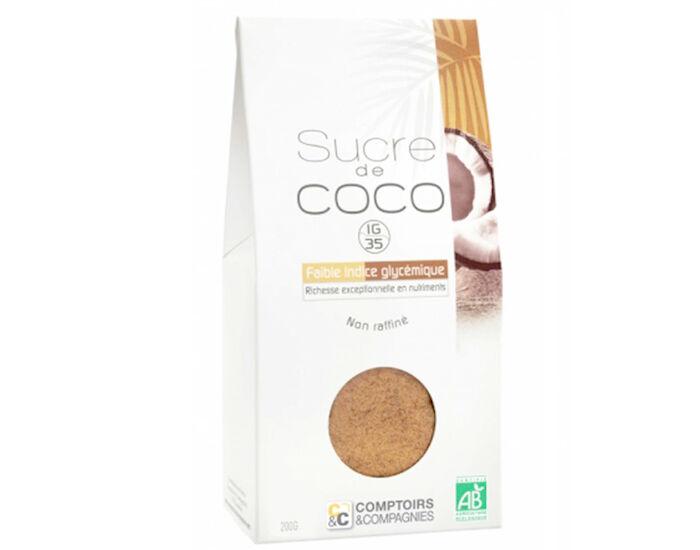 COMPTOIRS ET COMPAGNIES Sucre de Fleurs de Coco Bio - 200 g