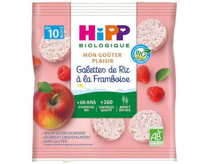 HIPP Galettes de Riz - 30g - Dès 8 ou 10 Mois Framboise