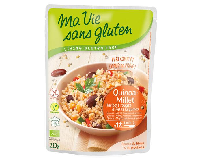 MA VIE SANS GLUTEN Céréales Cuisinées Quinoa Millet, Haricots Rouges et Légumes - 220 g