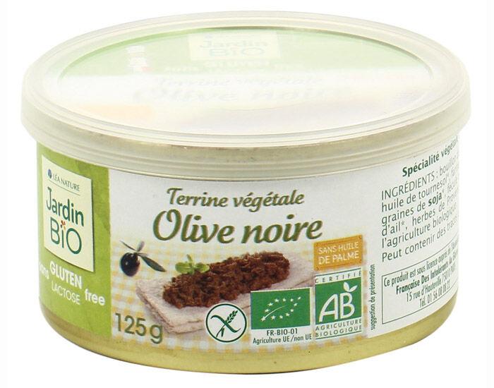 JARDIN BIO Terrine Végétale Sans Gluten - Olive Noire - 125g