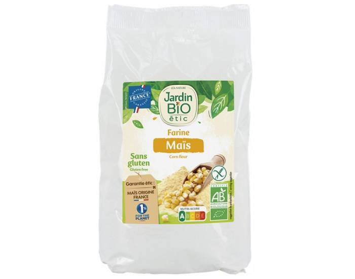 JARDIN BIO Farine de Maïs Sans Gluten - 400 g