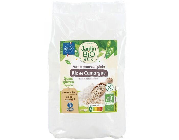 JARDIN BIO Farine de Riz Semi-Complète Sans Gluten - 400 g