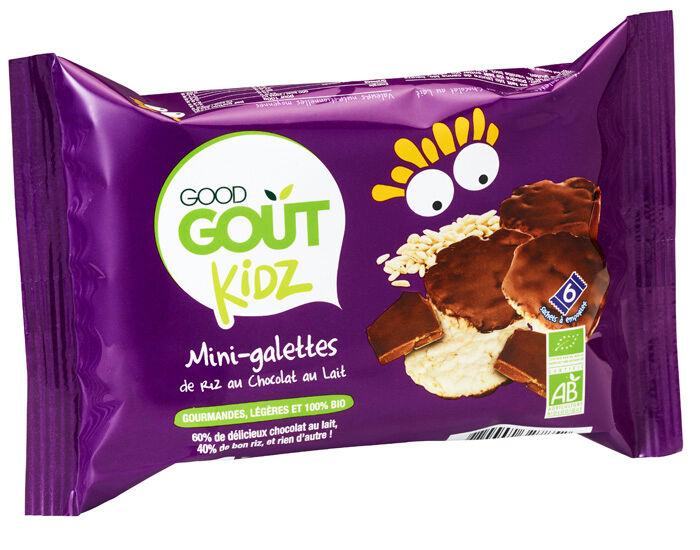 GOOD GOûT GOOD GOUT KIDZ Mini-Galettes de Riz au Chocolat au Lait - 84 g - Dès 3 ans