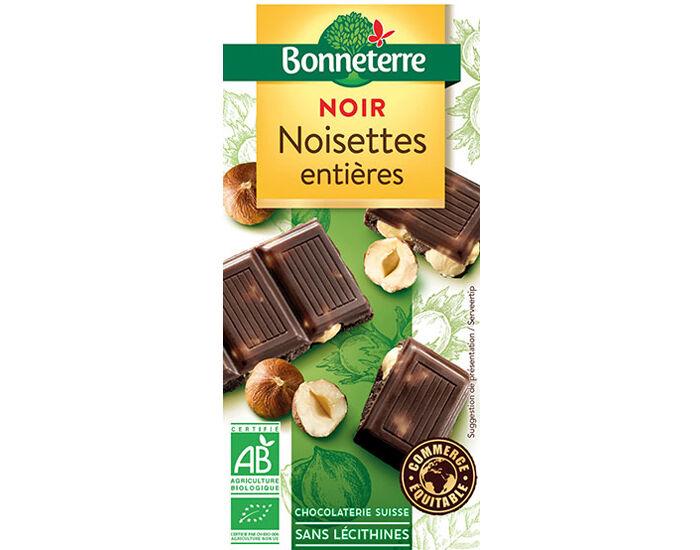 BONNETERRE Chocolat Noir Noisettes Entières - 100 g