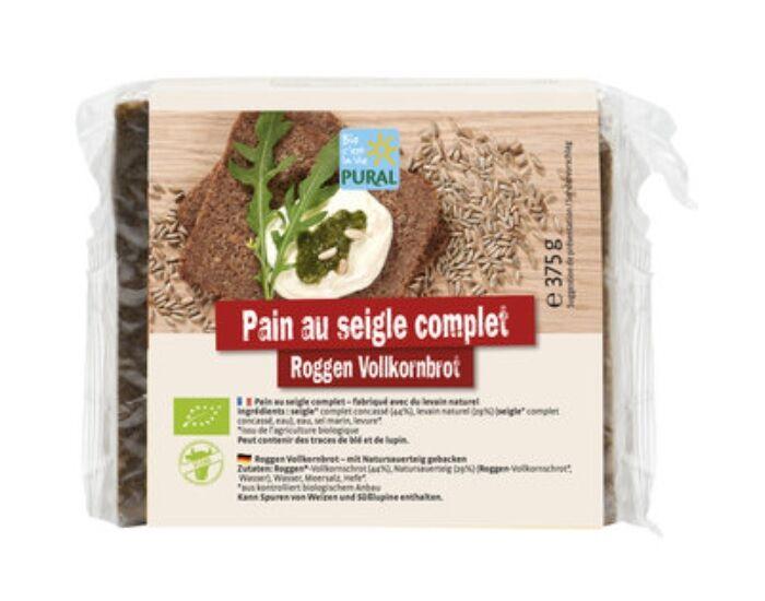 PURAL Pain Complet au Seigle - 375 g