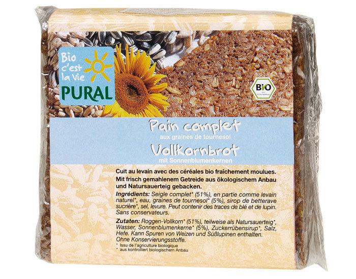 PURAL Pain Complet aux Graines de Tournesol - 375 g