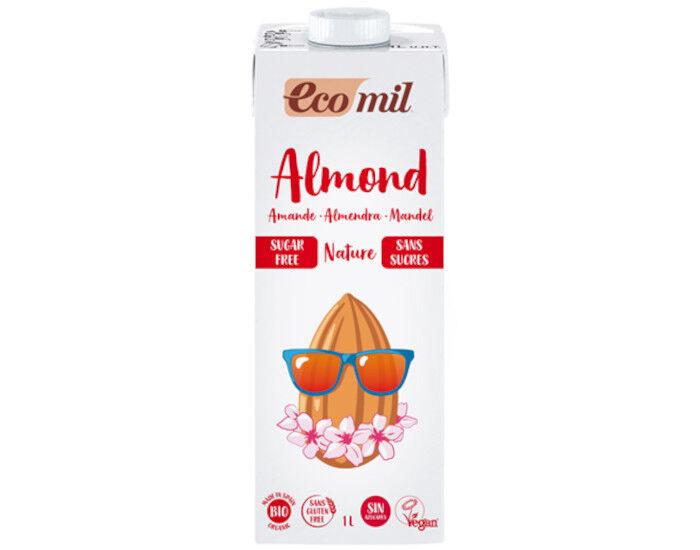 ECOMIL Lait d'Amandes Bio - Sans Sucres - 1 L