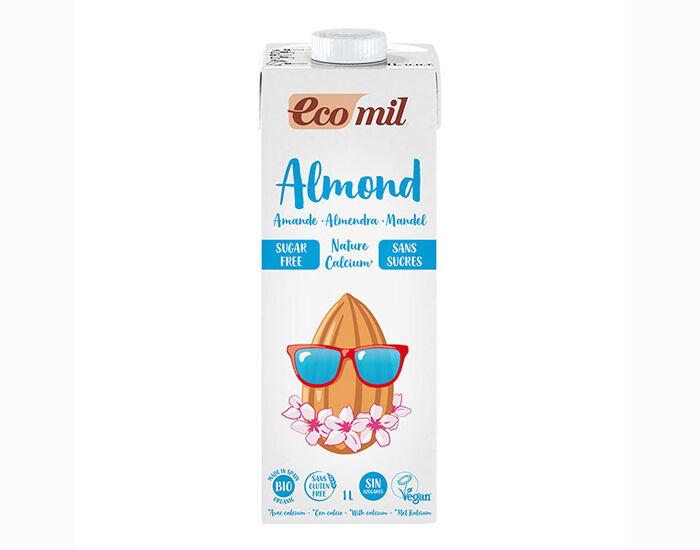 ECOMIL Lait d'Amandes Calcium Bio - Sans Sucres - 1 L