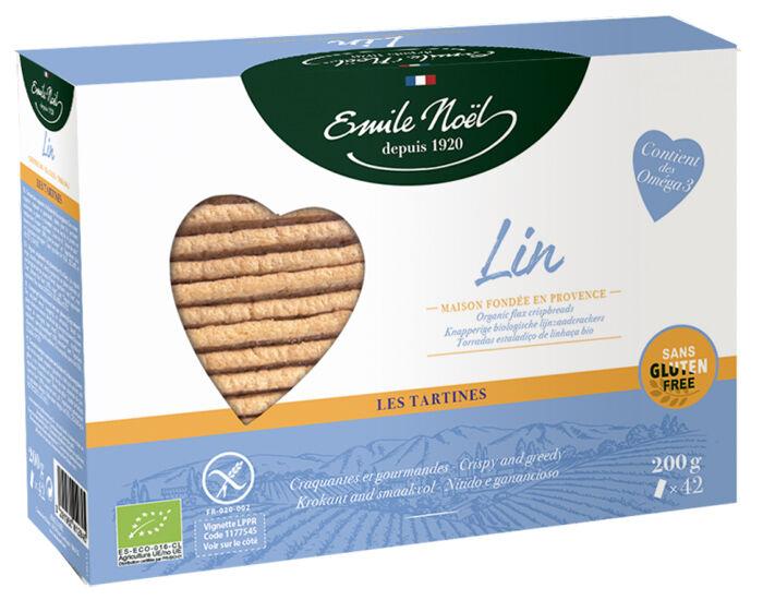 EMILE NOËL Tartines Sans Gluten Lin - 2 x 100 g