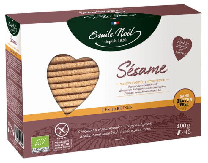 EMILE NOëL EMILE NOEL Tartines Sans Gluten Sésame - 2 x 100 g