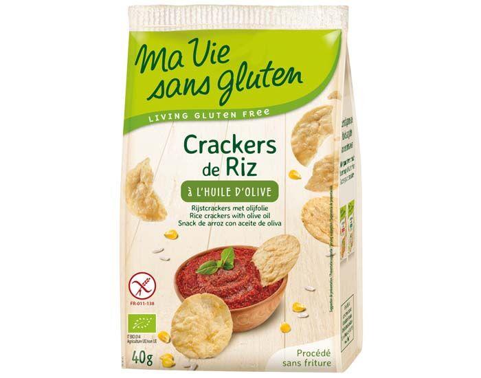 MA VIE SANS GLUTEN Crackers de Riz à l'Huile d'Olive - 40 g