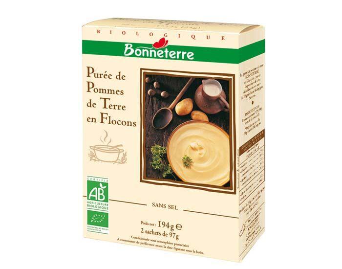 BONNETERRE Purée de Pomme de Terre en Flocons - 2 x 97g