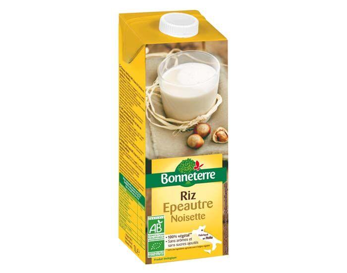 BONNETERRE Boisson Végétale Riz Epeautre Noisette - 1L