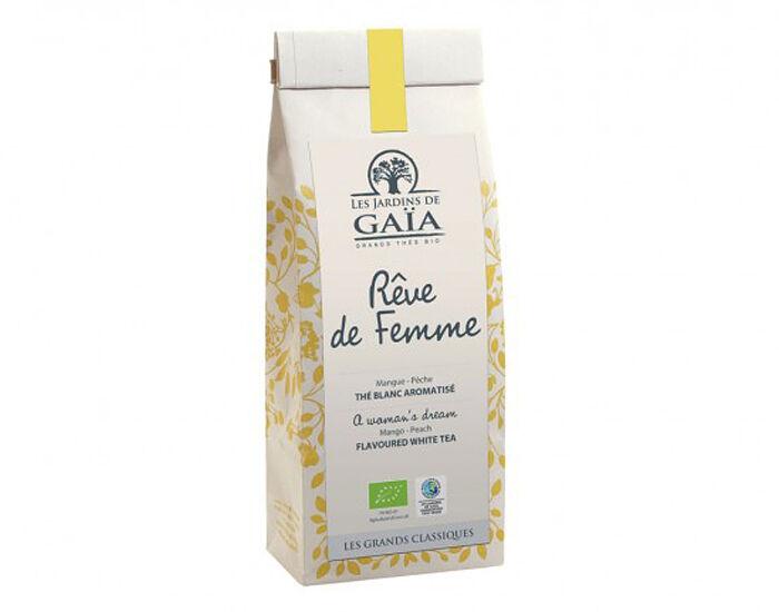 LES JARDINS DE GAIA Thé Blanc Mangue-Pêche - Rêve de Femme - 50 g