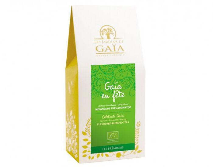 LES JARDINS DE GAIA LES JARDINS DE GAÏA Thé Vert et Noir - Gaïa en Fête Jasmin Framboise Coquelicot - 100 g