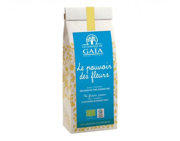 LES JARDINS DE GAIA Thé Wu Long Sureau-Framboise - Le Pouvoir des Fleurs - 50 g