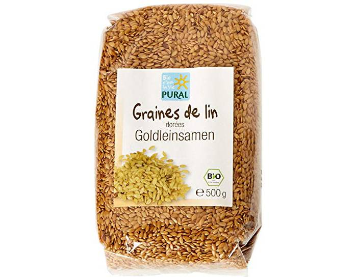 PURAL Graines de Lin Doré - 500 g