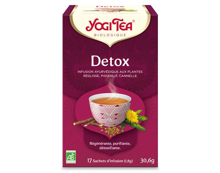 YOGI TEA Tisanes en sachet - Détox - 17 Sachets