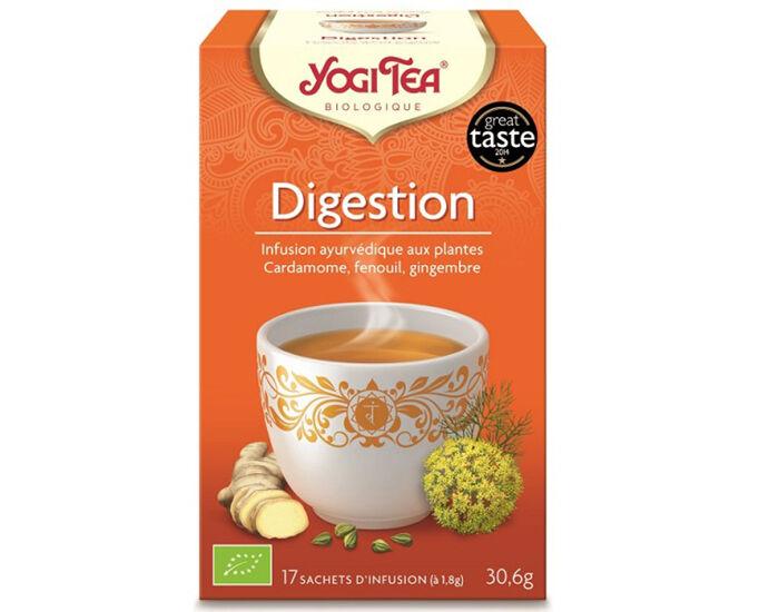 YOGI TEA Tisanes en sachet - Digestion - 17 Sachets