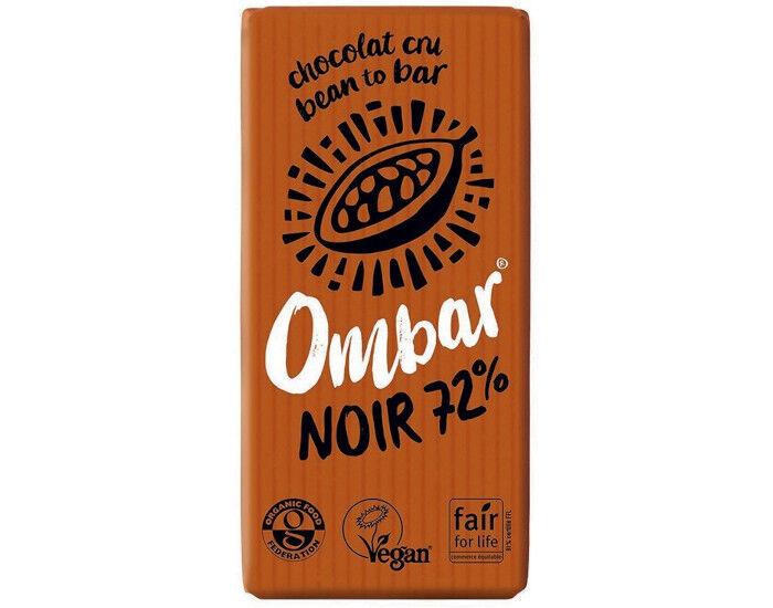OMBAR Chocolat 72% Cacao Cru - 35 g