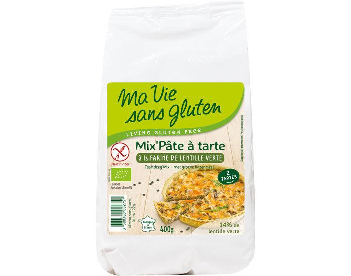 MA VIE SANS GLUTEN Mix Pâte à Tarte à la Farine de Lentille Verte - 400 g