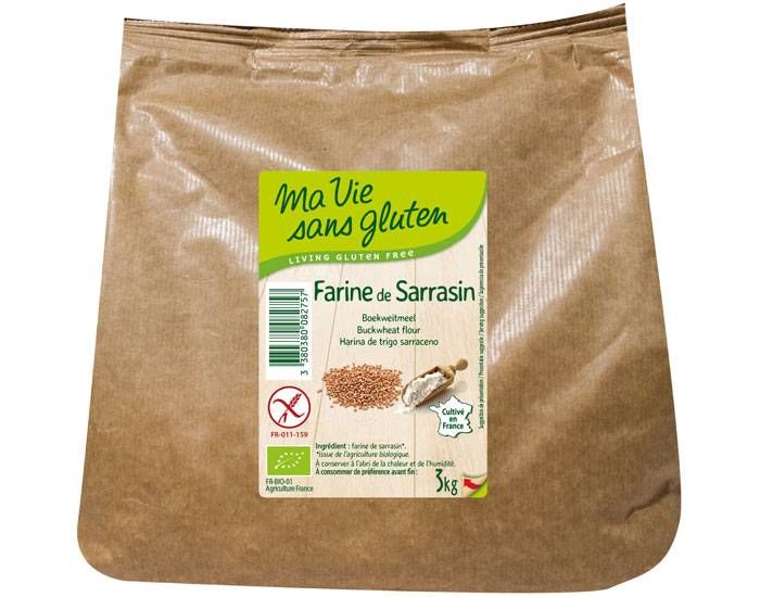 MA VIE SANS GLUTEN Farine de Sarrasin - 3 kg