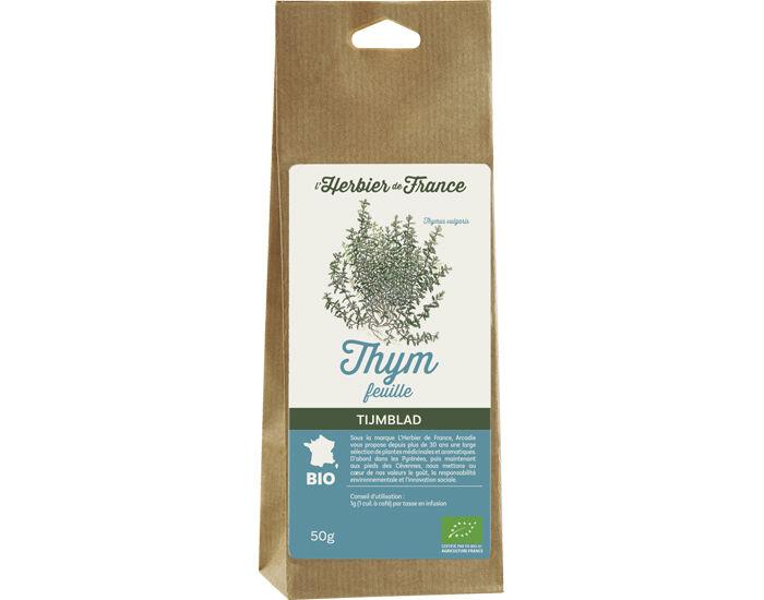 L'HERBIER DE FRANCE Thym feuilles - Mélange de Plantes pour Infusion - 50 g