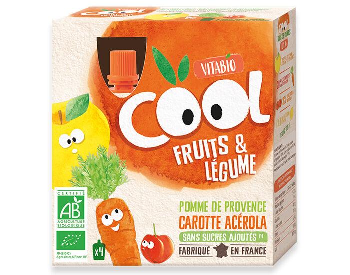 VITABIO Cool Fruits et Légumes Pomme Carotte - 4 x 90 g