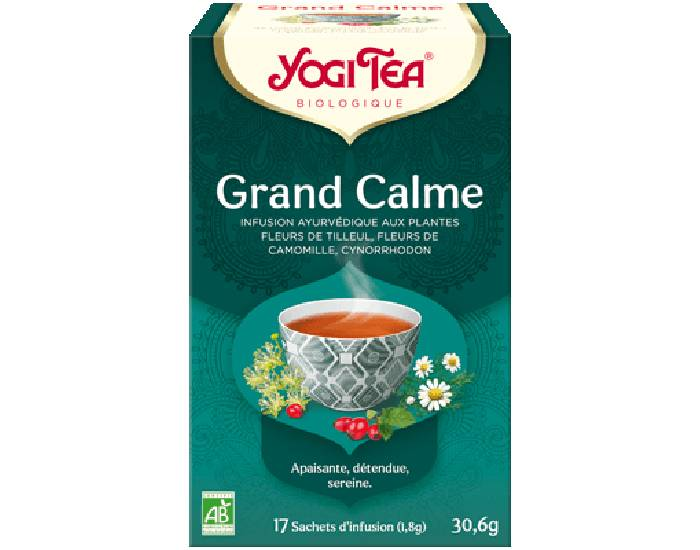 YOGI TEA Tisane en Sachet - Grand Calme - 17 Sachets