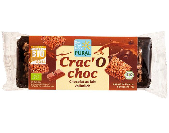 PURAL Crac'O Choc Riz Soufflé - Chocolat au Lait - 80 g