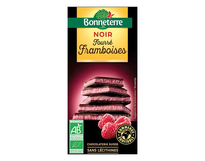 BONNETERRE Chocolat Noir Fourré Framboise - 100 g
