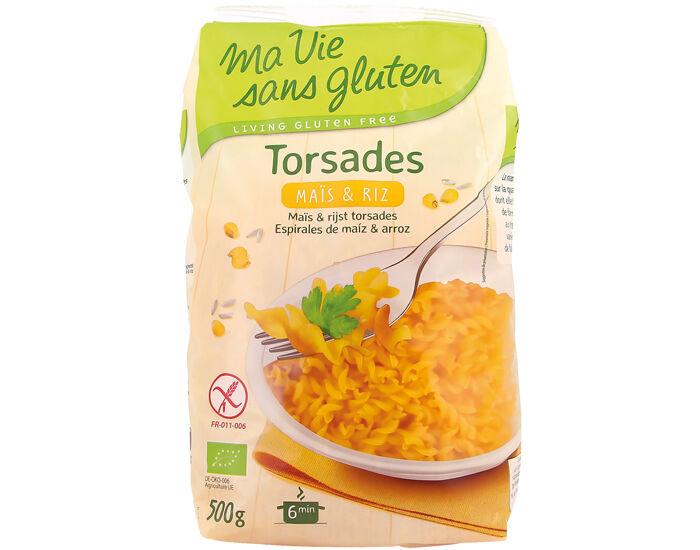 MA VIE SANS GLUTEN Torsades Maïs et Riz - Sans Gluten - 500 g