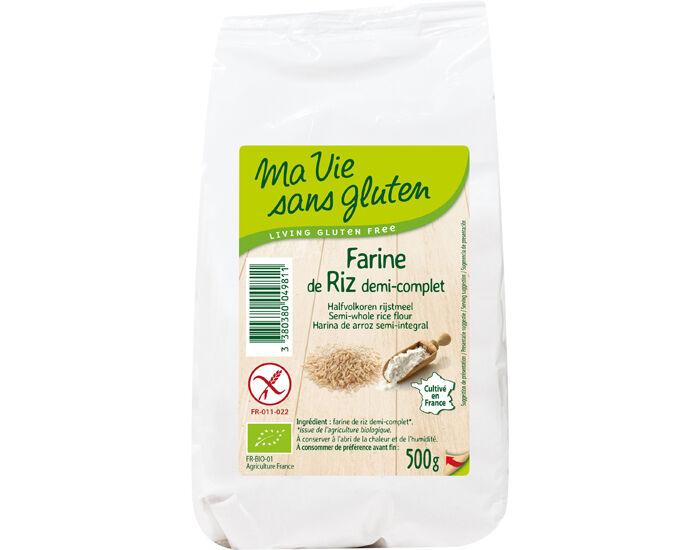 MA VIE SANS GLUTEN Farine de Riz demi-complète 500 g