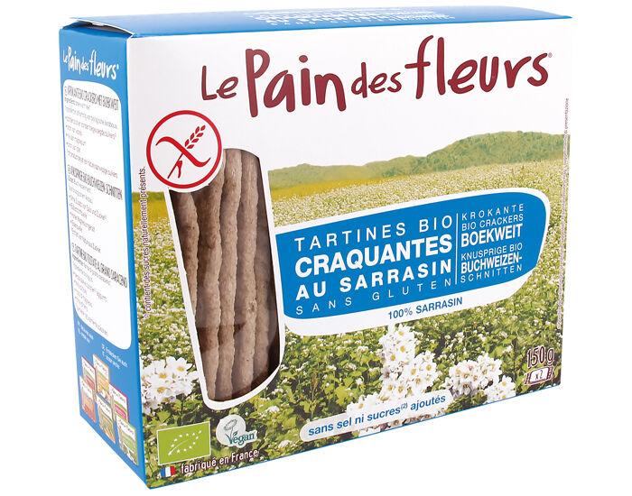 LE PAIN DES FLEURS Tartines Craquantes au Sarrasin Sans Sel - 150 g