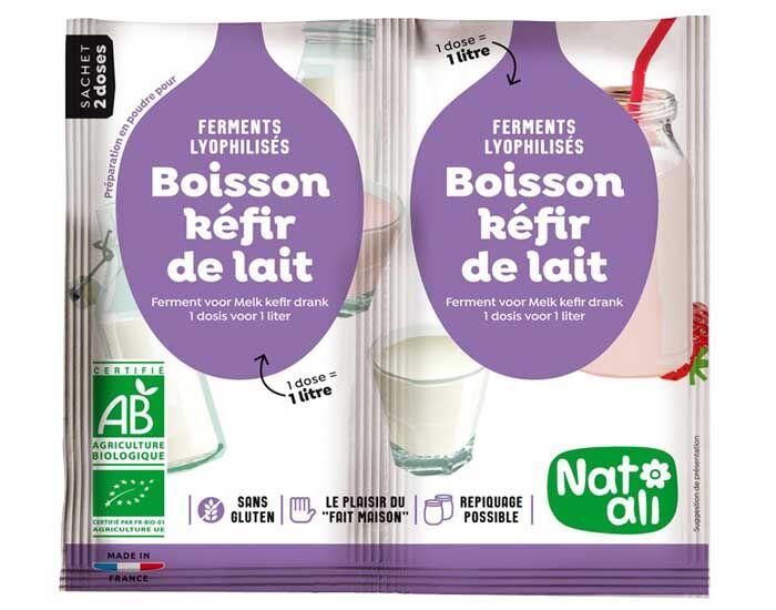 NAT-ALI Préparation pour Boisson Kéfir de Lait - 2 x 6 g