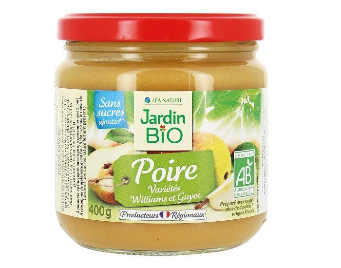 JARDIN BIO Compote Familiale Biofruits Poire - 400 g