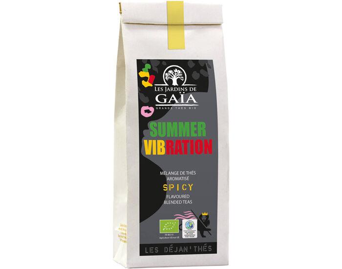LES JARDINS DE GAIA LES JARDINS DE GAÏA Thé Noir et Vert Summer Vibration - Sachet 100 g