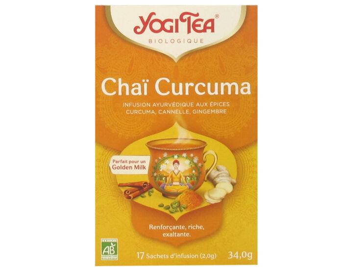 YOGI TEA Tisanes en Sachet - Chaï Curcuma  - 17 Sachets