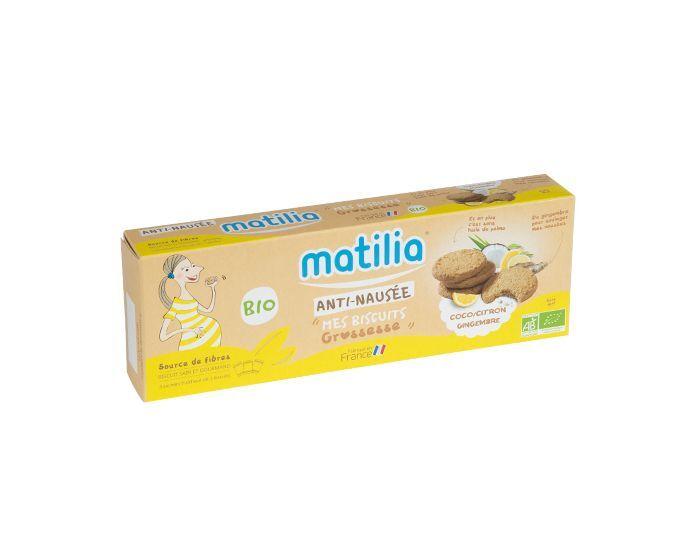 MATILIA Pack 3 Etuis Biscuits Anti-Nausée BIO - Coco Citron - 3x150g
