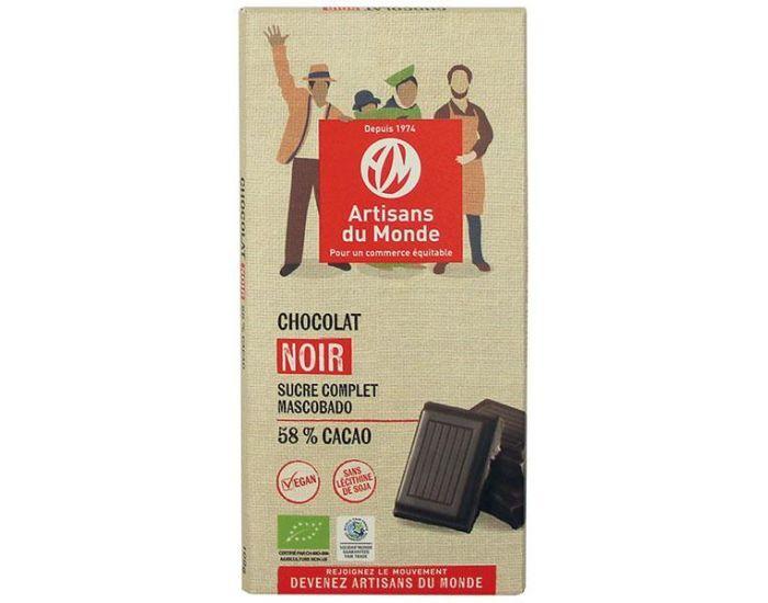 ARTISANS DU MONDE Chocolat Noir Equitable et Bio 58% - 100gr