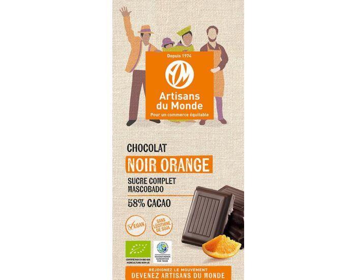 ARTISANS DU MONDE Chocolat Noir Equitable et Bio à l'Orange - 100gr