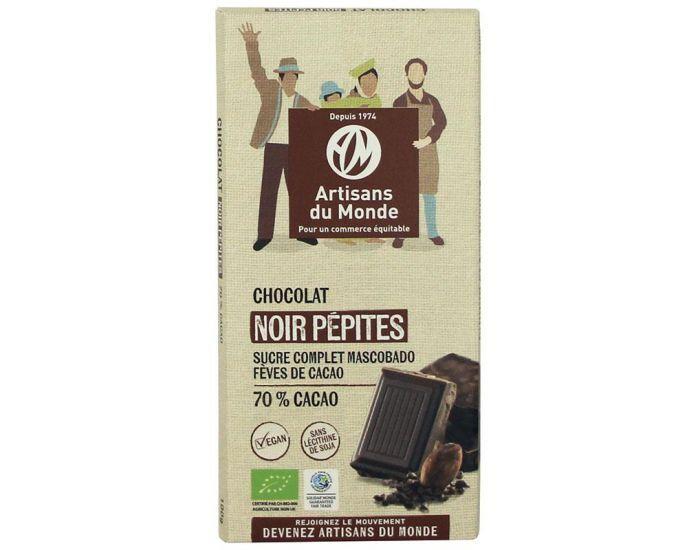 ARTISANS DU MONDE Chocolat Noir Equitable et Bio Pépites - 100g