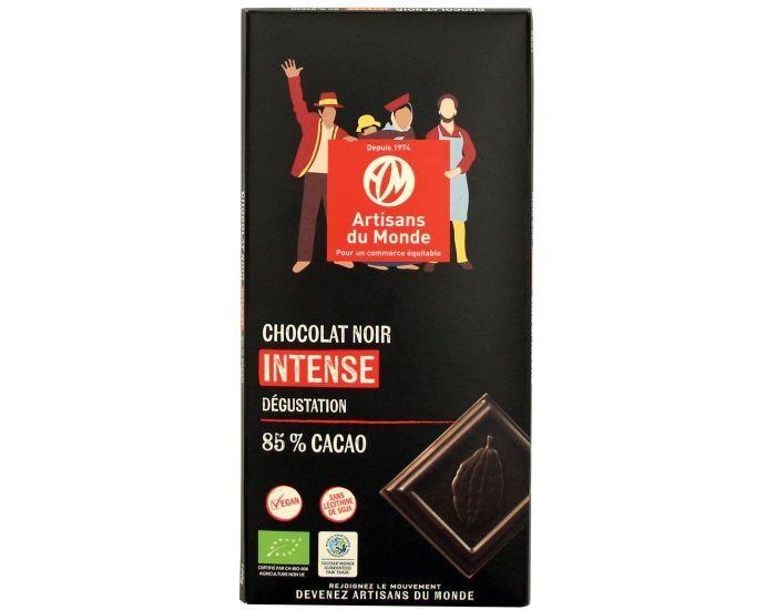 ARTISANS DU MONDE Chocolat Noir Intense Bio, 85% de Cacao - 100g