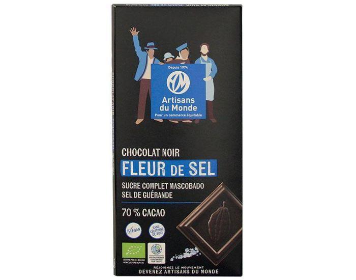 ARTISANS DU MONDE Chocolat Noir Bio àla Fleur de Sel - 100g