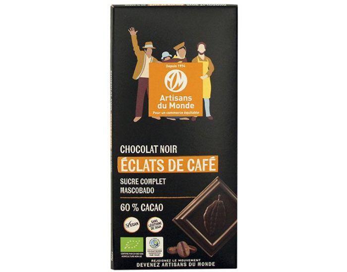 ARTISANS DU MONDE Chocolat Noir Bio aux Eclats de Café - 100g